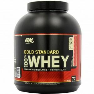 OptimumN Whey Gold 2.3kg клубника